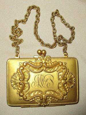Antique Change Purse and Compact Goldtone