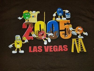 M&M's World 2005 Las Vegas Collectable multi-colored T-shirt size XL New/wo Tags