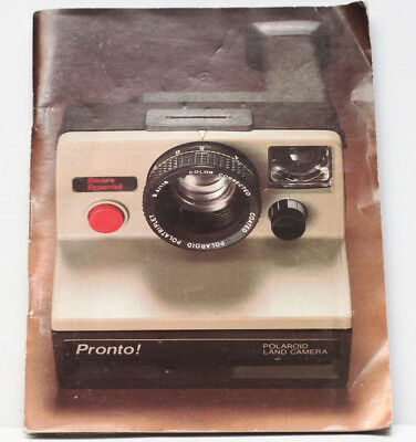 Polaroid Sears Special Pronto! SX-70 Land Camera Owner's Manual Instructions