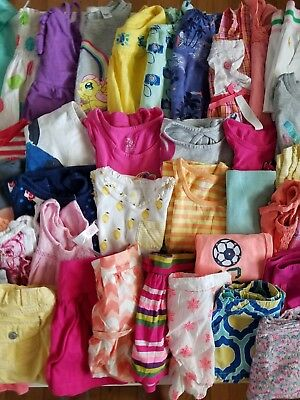 Lot-of-46 -Girls-Summer-Clothes-Size-4T