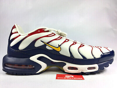 free shipping 9d653 973aa NEW NIKE AIR MAX PLUS TN AR5400-100 Sail/University Gold/ Navy Nautical  Pack c1