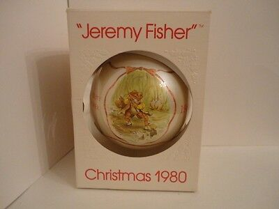 "Schmid ""Jeremy Fisher Frog"" Beatrix Potter Christmas Ornament 1980 - 4th Ed."