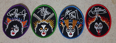Kiss Set of 4 Iron on Patches          Rock and Roll Over