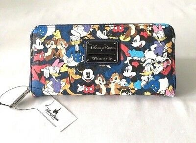 Disney Parks Loungefly Mickey & Friends Minnie Donald Wallet - New With Tags!