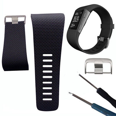 Silicone Replacement Watch Band Strap with Buckle Tool for Fitbit Surge Novelty