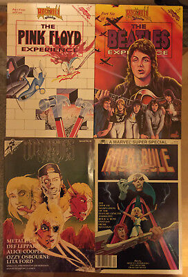 Lot 12 Rock n Roll Comics Metallica Pink Floyd Beatles Marvel Rock Rule