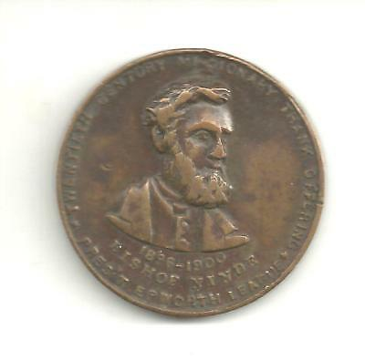 (Pgasteelers1)1901 Epworth League - Bishop Ninde,President  Bz. Medal- size 30