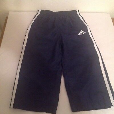 ADIDAS BOYS NAVY BlueWhite 3 Striped Athletic Pants. Size