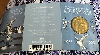 50th Anniversary Of The End Of The Korean War Coin
