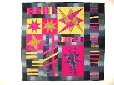 Art Quilt Entitled Stars And Stripes