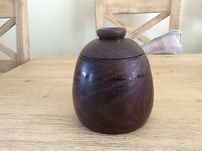 Lovely Vintage Turned Pot, Wooden, Lidded, Sweets, Tea, Coffee, Collectable