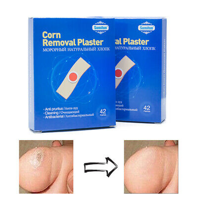 42 Pcs Plaster Paste Corn Foot Removal Pain Relief Feet Care Medical Wart Callus