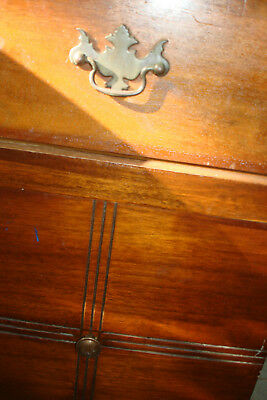 Vintage small wooden cabinet_very old pieice with stain and slight surface torn