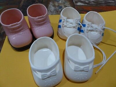 3 PAIRS MY CHILD DOLL  CABBAGE PATCH DOLLS SHOES 1980s