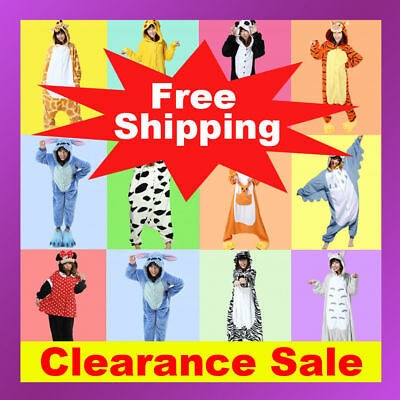 Animal Onese Adult Kids Kigurumi Cosplay Costume Pyjamas Pajamas Sleepwear AU