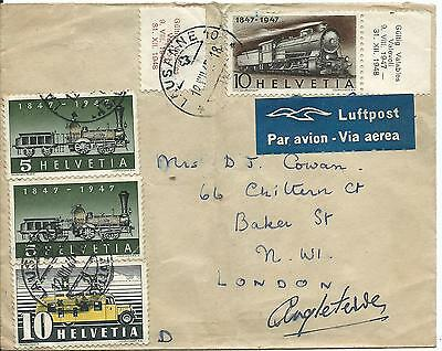 1948 Envelope to the UK Used 4 stamps roughly opened at rear 2 Scans