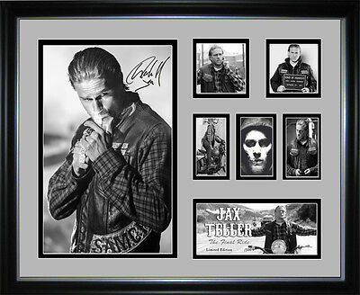 Sons Of Anarchy Jax Teller Limited Edition Signed Framed Memorabilia