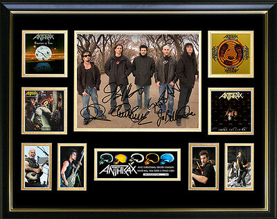 Anthrax Signed Framed Memorabilia