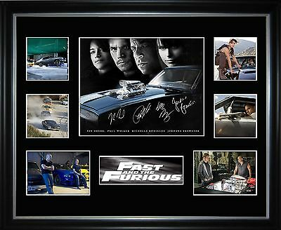 Fast And The Furious 4 Limited Edition Framed Memorabilia