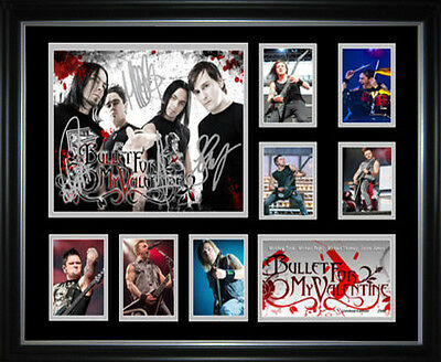 New Bullet for my Valentine Signed Framed Memorabilia