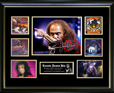 Ronnie James Dio Signed Framed Memorabilia