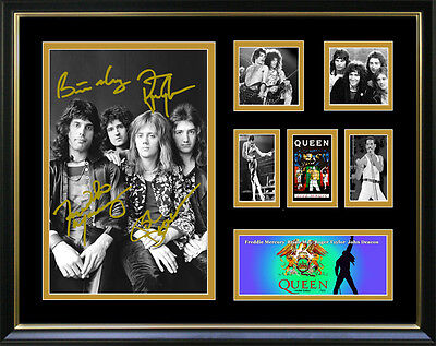 New Queen Signed Framed Memorabilia