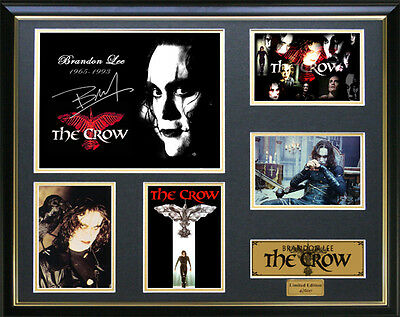 The Crow Brandon Lee Signed Framed Memorabilia