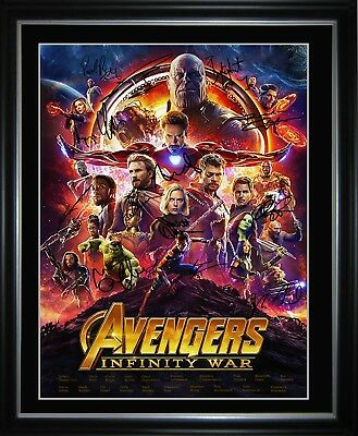 The Avengers Infinity War Framed Memorabilia Limited Edition