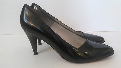 Bruno Magli Black High Heel Shoes Patent Leather Made in Italy Size 10 AA