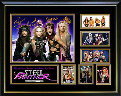 Steel Panther Framed Memorabilia   NEW ITEM!