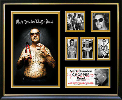 Mark Chopper Read Framed Memorabilia