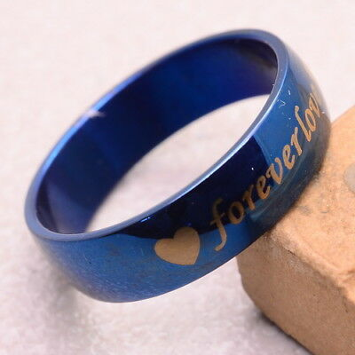 """Gorgeous! Stainless Steel Carved """"forever Love"""" Ring Sz 10Mm"""