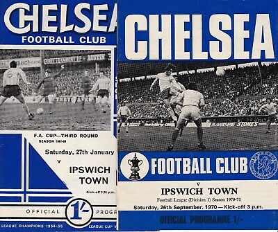 Chelsea v Ipswich Town - FA Cup 1967/68 -  low start price