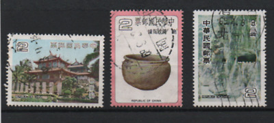 Taiwan 1979/80 MiNr.:1278, 1305; 1321; gestempelt; Republic of China, cancelled