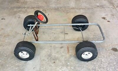 Vintage Kingsbury Children S Toy Pedal Car Frame Wheels Steering