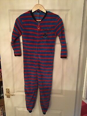 Mothercare size 7-8 pirate striped all in one