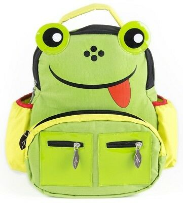 "CloudNine Kid's Backpack in the ""Frog"" Design, Green"