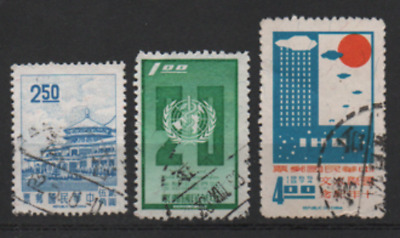 Taiwan 1968 MiNr.: 658; 673, 676, gestempelt; Republic of China cancelled