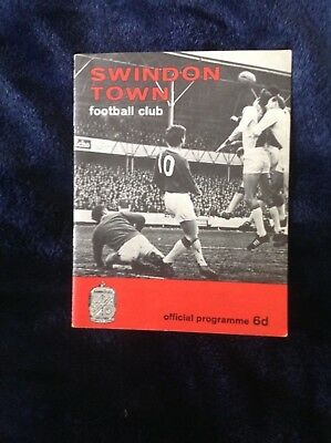 31/1/1967 Swindon Town v West Ham United FA Cup Replay Excellent Condition