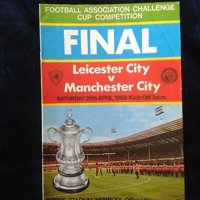 FA Cup Final 1969 Leicester City v Manchester City football programme