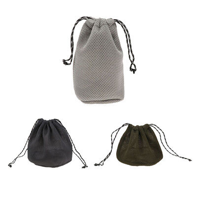 Thicken Mesh Cloth Drawstring Storage Bag for Camping Bowl Pot Plate Dishes