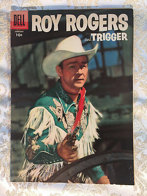 Roy Rogers & Trigger comic book, PHOTO COVER, #110 Dell, 1957