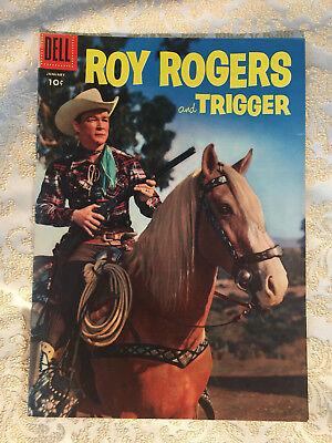 Roy Rogers & Trigger comic book, PHOTO COVER, #97 Dell, 1956, FN