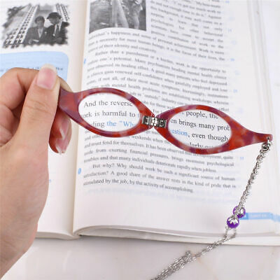 Magnifying Reading Glasses Folding Flip Down Spectacles Necklace Jewellery +2.0