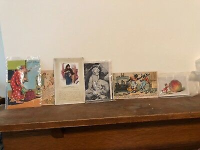 Variety(6 Total) Of Vintage Advertising Post Cards Or Cards Of Various Products
