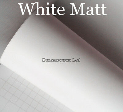 Flat Matte Vinyl Film Car Wrap PVC Car Body Color Change Decal Sticker White DIY