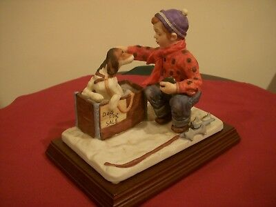 "Norman Rockwell ""A Boy Meets His Dog"" Four Season Collection Winter Rare Edition"