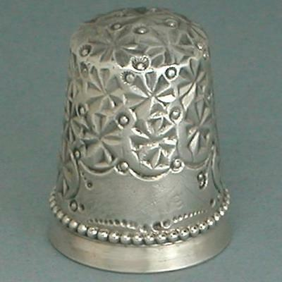 Antique Sterling Silver Rosette Thimble * American  * Circa 1890s