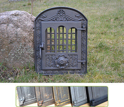 37,5 x 48 Cast iron fire door clay / bread oven / pizza stove fireplace - DZ011