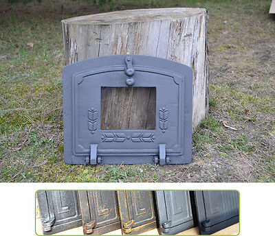36,5x32cm Cast iron fire door clay / bread oven / pizza stove smoke house DZ014